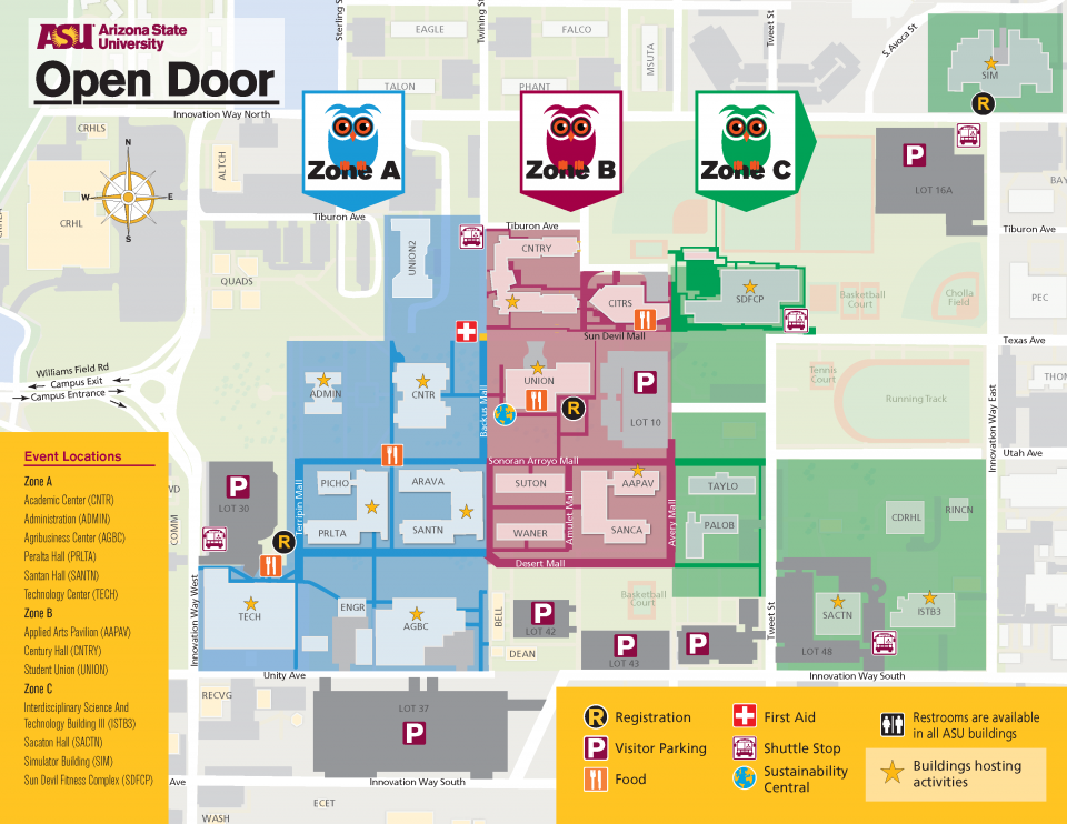 ASU Open Door @ Polytechnic map