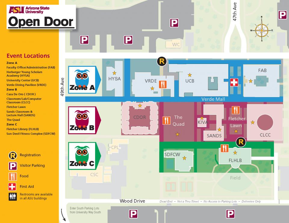 ASU Open Door West map