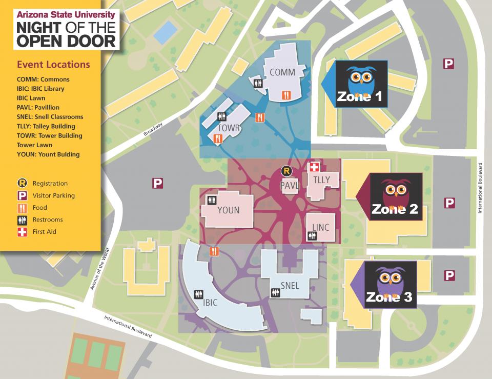 thunderbird map parking night of the open door