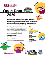 ASU Open Door 2020 flyer thumbnail